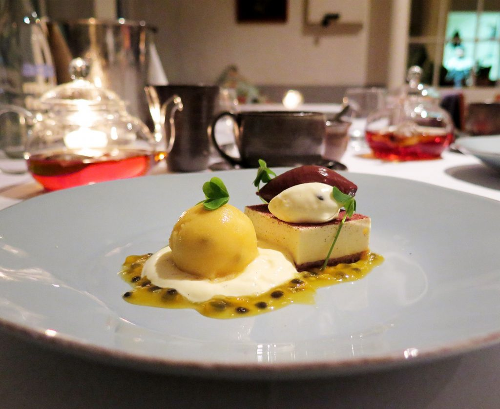 Passion fruit bavarois