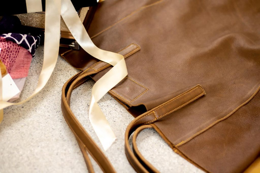 Soft leather shopper bag from Luthii Leather