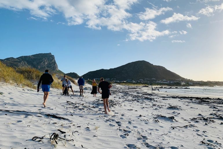 Pringle bay main Beach tourists