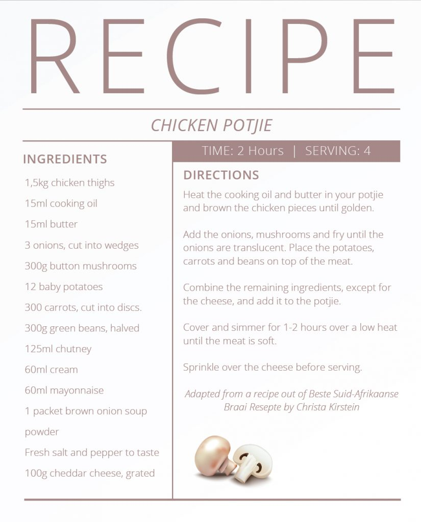 Father's Day Recipes - Chicken Potjie