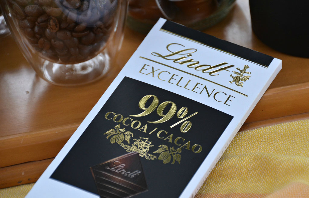 99% cocoa Lindt Chocolate